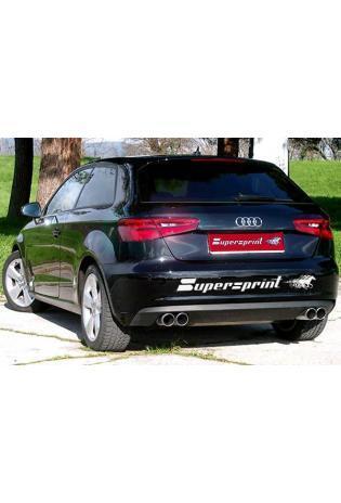 Supersprint Sportauspuff duplex Endschalldämpfer für Audi A3 8V Quattro - Endrohre je 2x80mm