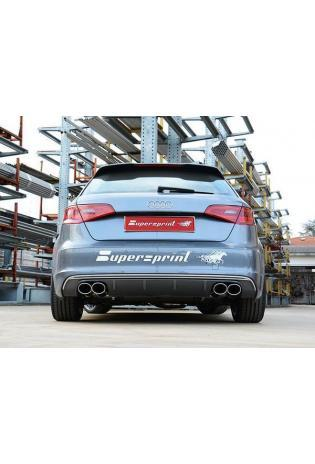 Supersprint Sportauspuff duplex Endschalldämpfer für Audi A3 8V Quattro - Endrohre je 2x100x75mm