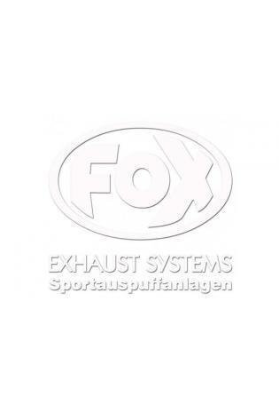 """FOX Sticker Weiss - geplottet  Höhe: 100mm  Breite: 100mm - FOX Logo mit Schrift """"EXHAUST SYSTEMS - Sportauspuffanlagen"""""""