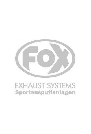 """FOX Sticker Silber - geplottet  Höhe: 100mm  Breite: 100mm - FOX Logo mit Schrift """"EXHAUST SYSTEMS - Sportauspuffanlagen"""""""