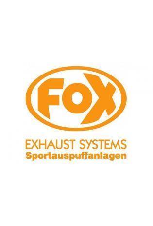 """FOX Sticker Orange - geplottet  Höhe: 100mm  Breite: 100mm - FOX Logo mit Schrift """"EXHAUST SYSTEMS - Sportauspuffanlagen"""""""