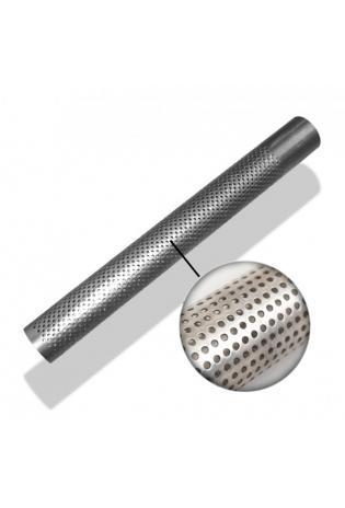 Edelstahl Perforiertes Rohr Ø 45mm mit ausgestanzten Löchern Länge 600mm