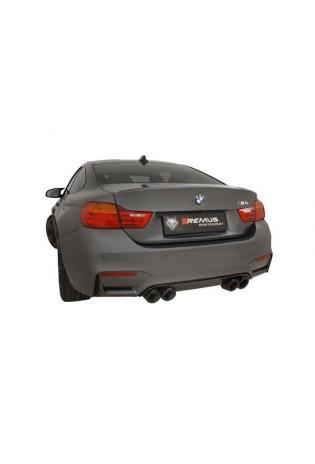 Remus Duplex Racinganlage für BMW M3 F80 ab Bj.14 rechts links je 2x98mm Street Race Black Chrome