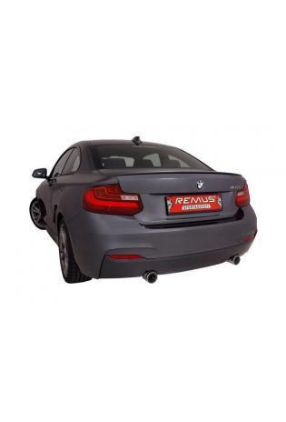 Remus Duplex Racinganlage ab Turbo für BMW 2er F22 M235i Endrohre je 1x84mm schwarz