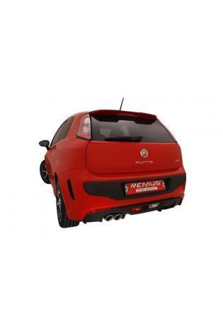 REMUS Sportauspuff Endschalldämpfer links Fiat Punto Evo Abarth 1.4l 163 PS Endrohre 2x84mm Carbon Race