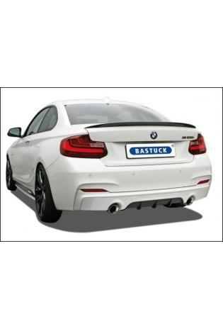 Bastuck Sportauspuff duplex Racinganlage ab Kat. für BMW 2er Coupe F22 - Endrohre je 1x90mm schräg