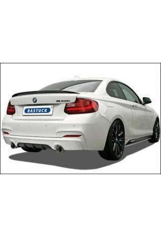 Bastuck Sportauspuff duplex Komplettanlage ab Kat. für BMW 2er Coupe F22 M235i - Endrohre je 1x90mm Race Look