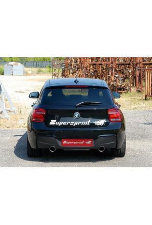 Supersprint Sportauspuff Duplex-Anlage ab Kat rechts-links 1x100mm - BMW 1er F20 F21 114i 116i u. 118i ab 2012 mit 135i Heckstoßansatz