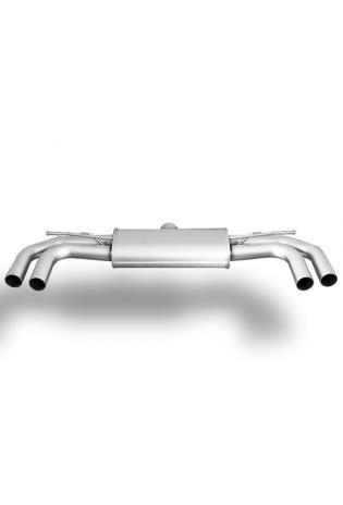 REMUS Sportauspuff Endschalldämpfer mittig Audi A3 8V Cabrio + A3 Limousine Quattro, ohne Endrohre