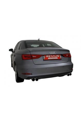 REMUS Sportauspuff Endschalldämpfer duplex Audi 8V Limousine und Cabrio re/li je 2x84mm Carbon Race