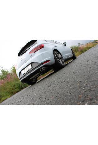 Fox Sportauspuff duplex Racinganlage für Seat Leon 5F + SC Cupra Endrohre je 2x80mm