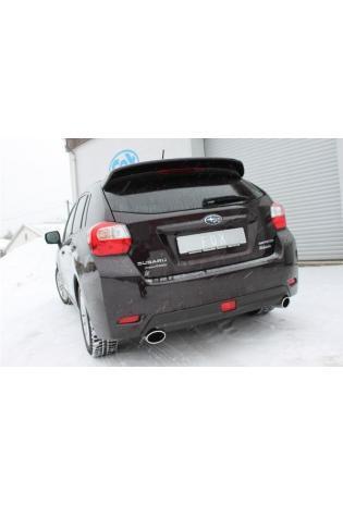 FOX Duplex Endschalldämpfer quer für Subaru Impreza Schrägheck GP 1.6i 4x4 4.Generation Endrohr Typ 38 115x85 rechts links oval seitlich abgeschrägt und eingerollt
