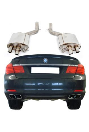 FOX Duplex Sportauspuff BMW 7er F01 760i re/li je 2x63mm mit Abgasklappen