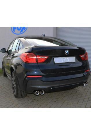 FOX Duplex Endschalldämpfer quer für BMW X4 Typ F26 xDrive20d/30d 2 x 90 rechts links Typ 17