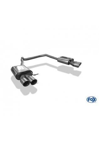 FOX Sportauspuff Duplex Endschalldämpfer Seat Leon 5F ST  re/li je 2x90mm Typ 25