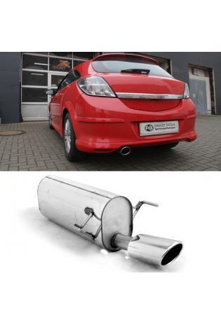 FOX Endschalldämpfer für Opel Astra H und H GTC 1.2l 1.4l 1.6l 1.8l 1.3l CDTI und 1.9l CDTI mit Ausschnitt Endrohr einseitig 115 x 85 Typ 32