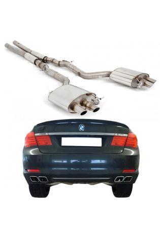 FOX Duplex Sportauspuff Komplettanlage ab Kat. BMW 7er F01 760i je 2x63mm mit Abgasklappen