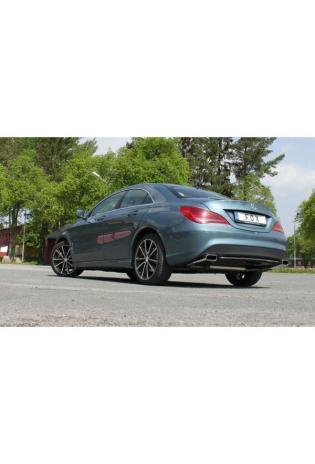 FOX Endschalldämpfer für Mercedes CLA C117 X117 180 200 2.0l CLA 250 re/li 145x65mm Typ 59