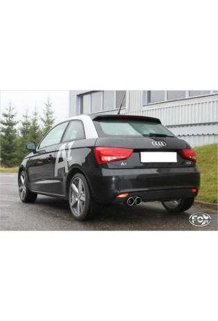 FOX Racing Komplettanlage für Audi A1 inkl. Sportback 1.4l TFSI Endrohr 2x90 mm Rohrdurchmesser 55 mm Typ 16