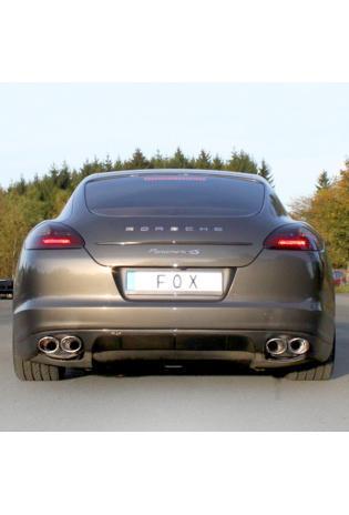FOX Sportauspuff Endschalldämpfer für Porsche Panamera 3.6l Bj. 2010 Endrohre Rechts und Links 2x115x85 mm Typ 44 Rohrdurchmesser 70 mm
