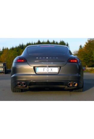 FOX Sportauspuff Endschalldämpfer für Porsche Panamera S und Turbo 4.8l Bj. 2010 Endrohre Rechts und Links 2x115x85 mm Typ 44 Rohrdurchmesser 70 mm