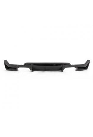 Rieger Heckansatz BMW 4er Coupe Cabrio Grand Coupe F32 F33 F36 Schwarz glänzend für re/li 2x80mm