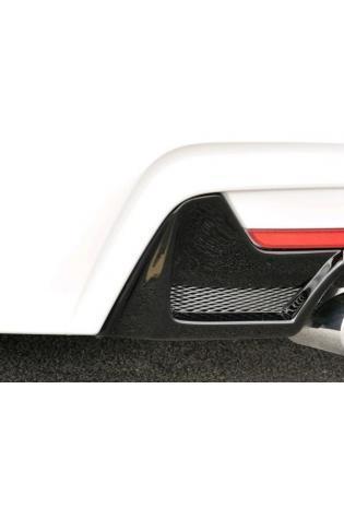 Rieger Heckansatz BMW 4er Coupe F32 F82 Schwarz glänzend inkl Gitter für re/li 2x80mm