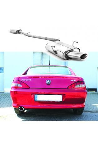 FOX Sportauspuff Komplettanlage für Peugeot 406 Limousine und Coupe 1x90mm Typ 13