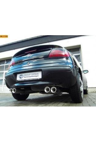 FOX Duplex Racing-Komplettanlage ab Kat. Opel Tigra A re/li je 2x 90mm