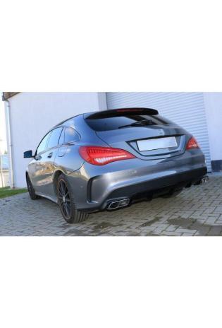 FOX Sportauspuff Endschalldämpfer für Mercedes CLA C117/ X117 AMG 45 Optik Endrohre re/li