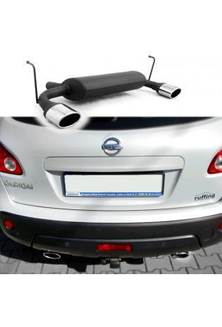 ULTER Duplex Sportauspuff Nissan Qashqai I Bj. 07-13 2.0l - mit je 120x80mm oval