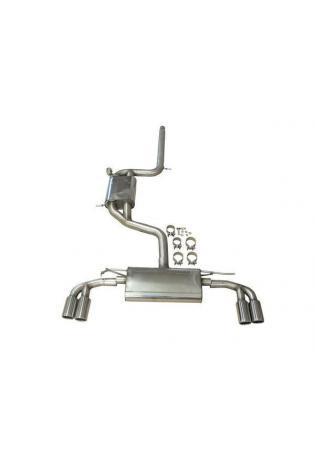 JE DESIGN Klappenauspuffanlage Seat Leon 5F Cupra m. EG-Genehm. 4 x 80 mm, fuer Original Heckschuerze