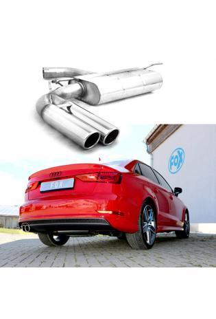 FOX Sportauspuff Endschalldämpfer für Audi A3 8V Limousine 2x80mm Typ 16