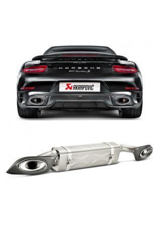 Akrapovic Sportauspuff Endschalldämpfer für Porsche 911 Turbo und Turbo S Typ 991 Endrohre rechts links