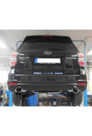 FOX Sportauspuff Endschalldämpfer für Subaru Forester SJ Endrohre 1x114 rechts links Typ 12