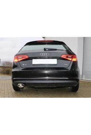 FOX Sportauspuff Endschalldämpfer für Audi A3 8V Sportback links 160x90mm