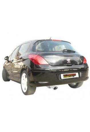 Raggazon Endschalldämpfer Peugeot 308 1.6 HDi ab 2007 Endrohr 110 x 65 mm oval Sport Line