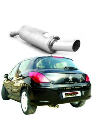 Raggazon Endschalldämpfer Peugeot 308 1.6 HDi ab 2007 Endrohr links 90 mm rund Sport Line