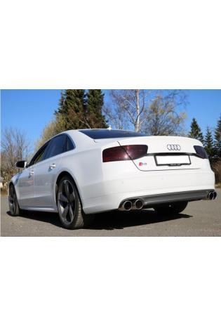 Fox Sportauspuff Endschalldämpfer für Audi S8 Typ 4H re/li zweiflutig 2x100mm Typ 16