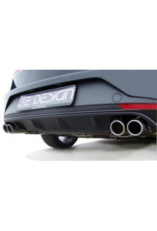 JE DESIGN Klappenauspuffanlage Seat Leon ST 5F Cupra  m. EG-Genehm. 4 x 80 mm, fuer Original Heckschuerze