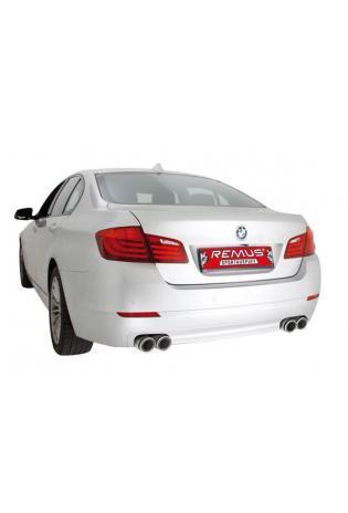 REMUS Duplex Sportschalldämpfer für BMW 5er 520d - 530d F10 F11 Limousine Touring ab Bj 2010 rechts links je 2x84 mm schräg