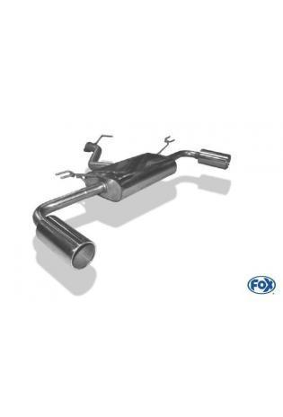 FOX Sportauspuff Endschalldämpfer quer für Kia Pro Ceed GT Endrohre rechts & links 1x100 Typ 12