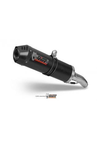 Mivv Sport-Line Oval Carbon Schalldämpfer hochgelegte Version für APRILIA Tuono Fighter 1000 Bj. 06-10