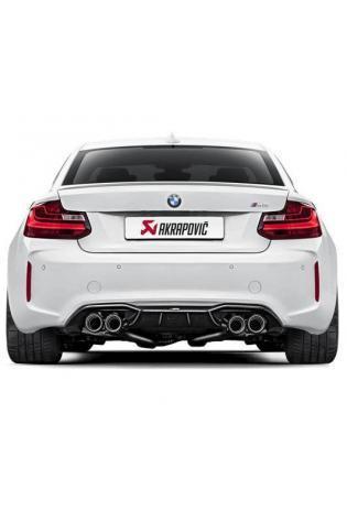 Akrapovic Evolution Line Sportauspuffanlage ab Kat BMW M2 mit Carbon Endrohren