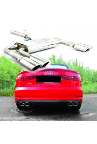 FOX Duplex Endschalldämpfer Sportauspuff Audi S3 quattro Limousine + Cabrio 286/300 PS