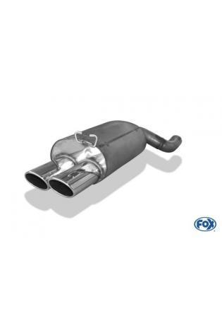 Fox Sportauspuff Endschalldämpfer Mercedes SL Typ R129 2x115x85mm kein Flansch!