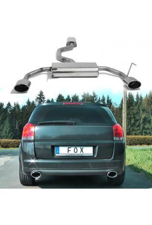 FOX Komplettanlage ab Kat Opel Signum Sportheck 3.2l rechts links je 1x140x90mm oval