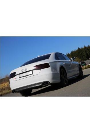 FOX Sportauspuff Komplettanlage ab Kat für Audi S8 Typ 4H re/li 2x100mm Typ 16