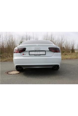 FOX Duplex Sportauspuff Komplettanlage ab Kat für Audi S8 Typ 4H re/li je 2x90mm Typ 25