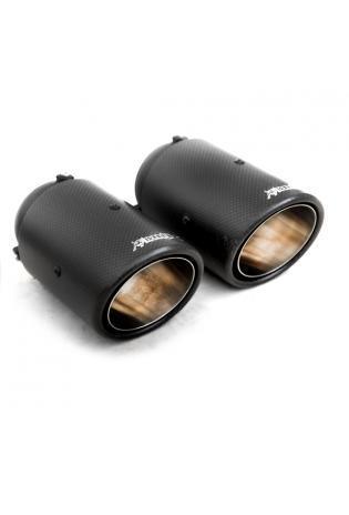 Bull-X Endrohrset: Typ 6 Carbon re/li je 1 x Ø 89mm Kugelkopfanschluss Ø 64mm